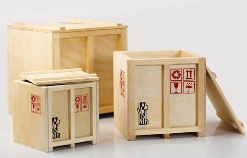 INBOX Wooden Desktop Crates Set