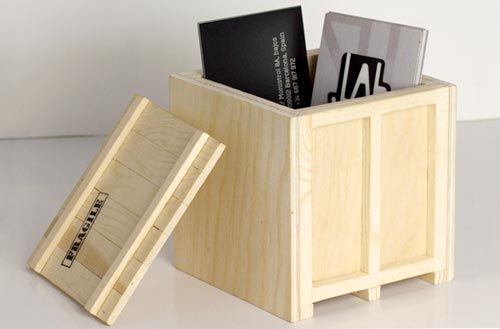 INBOX Wooden Desktop Crates Small Box