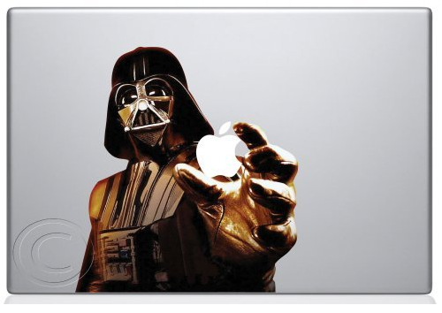 Picture 9 Use the Macs light to power the Dark Side with this Darth Vader MacBook Vinyl Decal