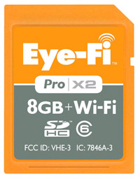 eye fi wi fi sdhc card Turn any camera into a wireless one with the Eye Fi Pro X2 8 GB Memory Card