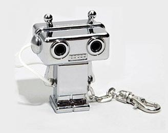 tunes for 2 robot keychain This cute little robot can do the splits and share your music with a friend