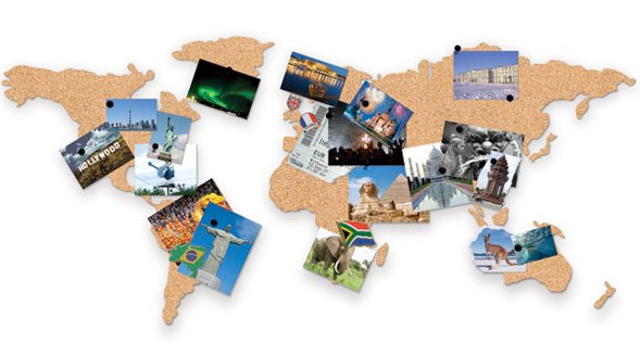 Board of traveling Uncork the world with this awesome Cork Board – Cork Board World Travel Map