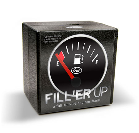 Filler Up Coin Bank Box