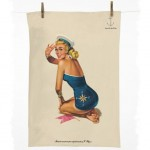 pinup girl tea towel 150x150 What do you get when you combine measuring tape and scotch tape?