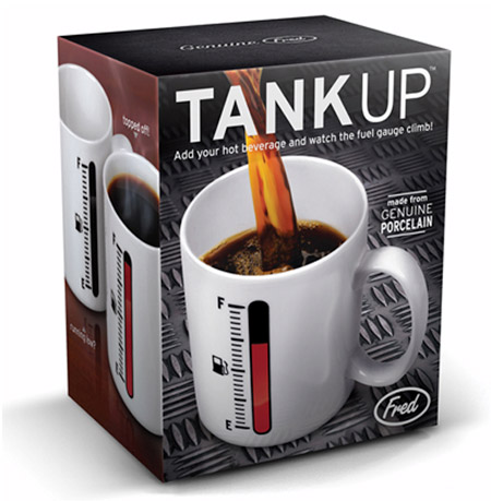 tank up fred and friends coffee mug box Fill up in the morning with the Tank Up Coffee Mug