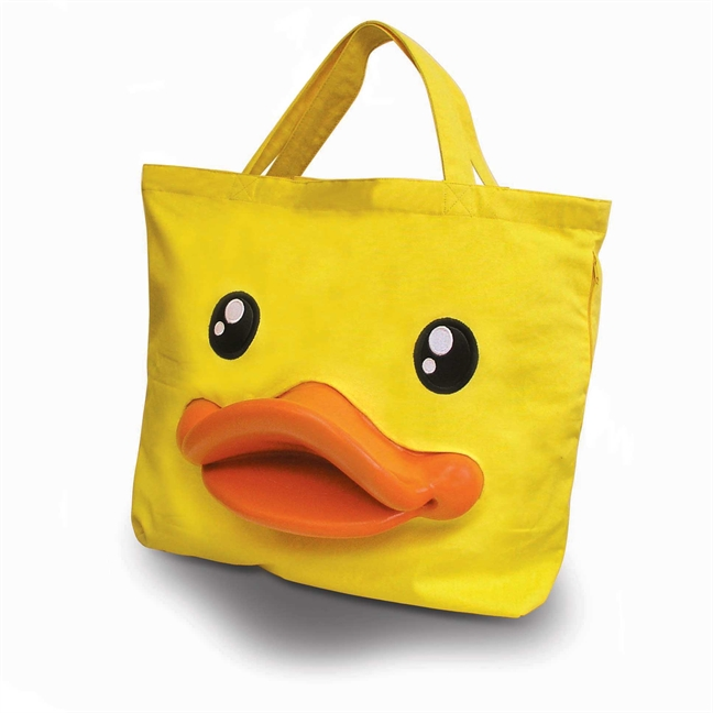 rai005 B Duck Canvas Tote 1 The B Duck Canvas Tote review by Miss Melissa is everything its quacked up to be