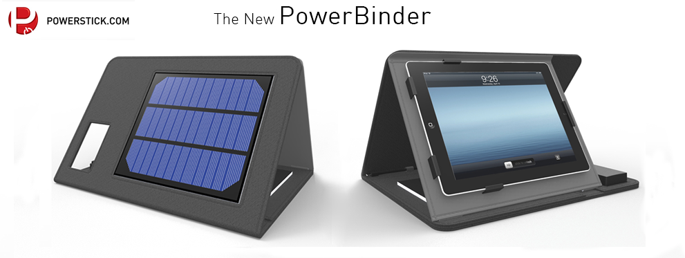 TheNewPowerBinder Power to the People with the PowerStick Solar Charged PowerBinder