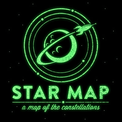 Star Map Glowing Logo