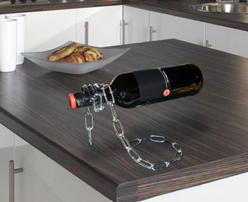 wine chain Keep your wine chained up with the Chain Wine Bottle Holder