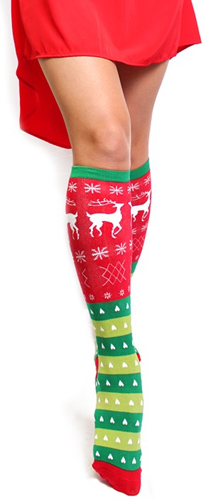 sockittome sweater christmas socks 1207b1 e1418285812313 Sock it to me! Tacky Christmas Socks now rival the Ugly Christmas Sweater